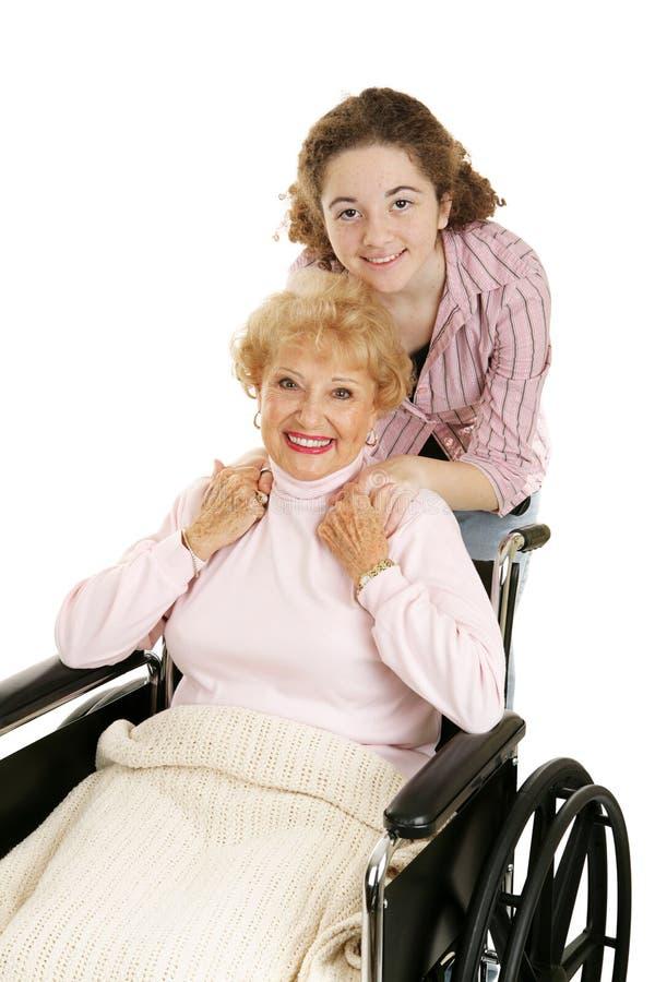 nastoletnia babci zdjęcie royalty free