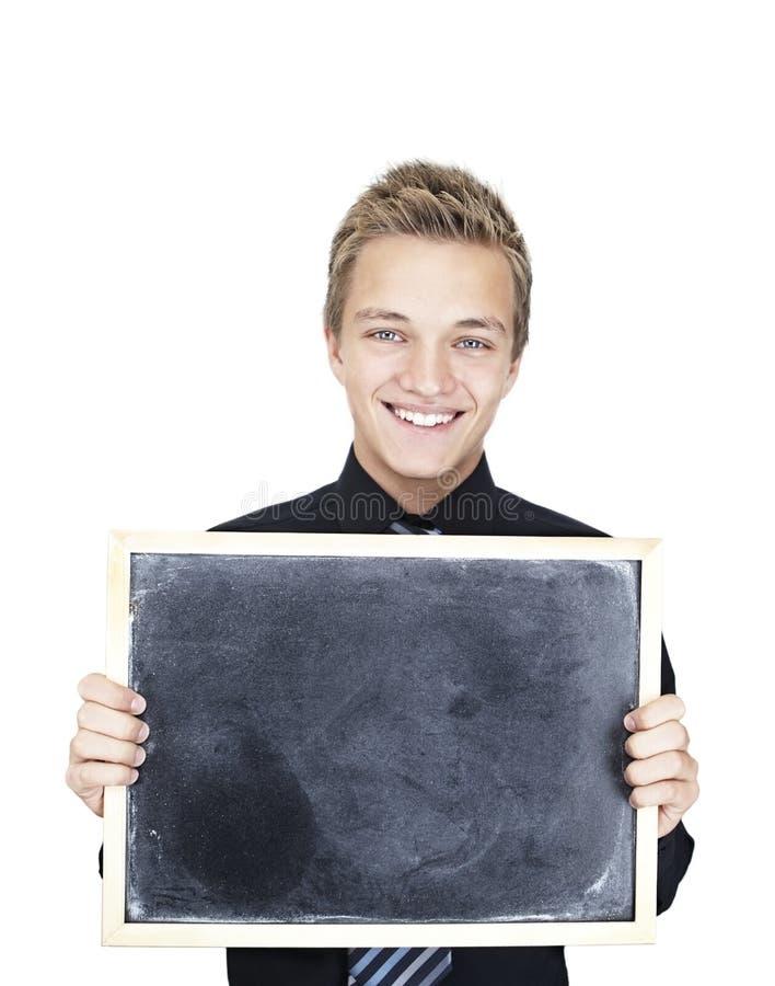 nastoletnia blackboard chłopiec obrazy royalty free