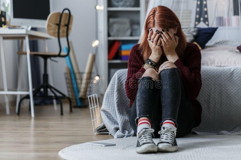 Nastoletnia dziewczyna z problemami zdjęcia stock