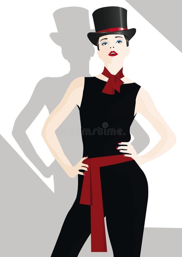 nastoletnia mody dziewczyna royalty ilustracja