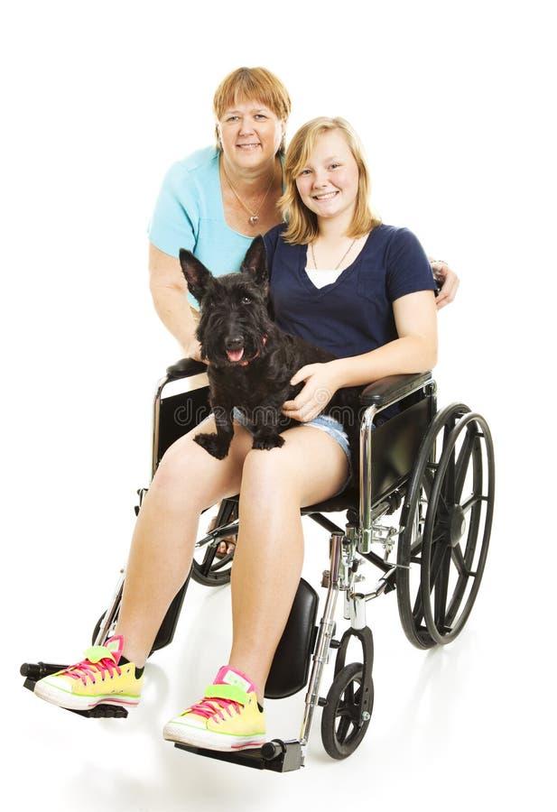 nastoletnia niepełnosprawna mama obrazy royalty free
