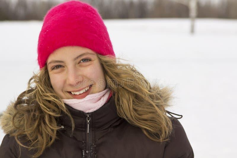 nastoletnia portret zima zdjęcie royalty free
