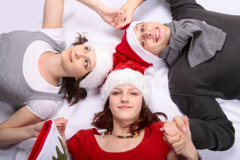 nastoletnia rodzinna Boże Narodzenie dziewczyna obraz stock