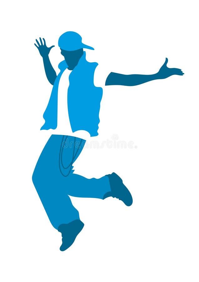 Nastoletniego chłopaka taniec royalty ilustracja