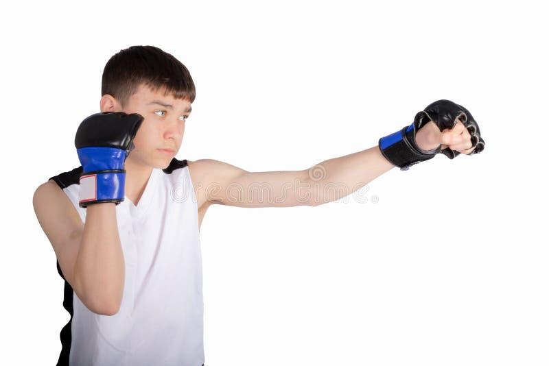 Nastoletniego ch?opaka bokser zdjęcia stock