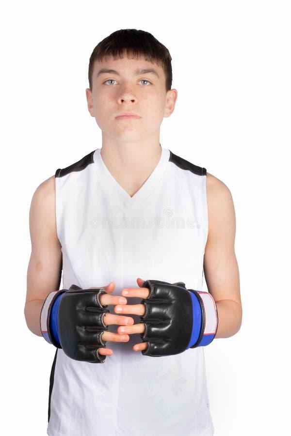 Nastoletniego ch?opaka bokser fotografia stock