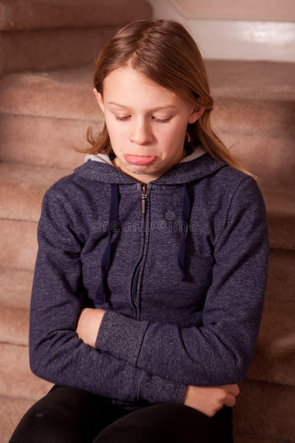 Nastoletniej dziewczyny pouting zdjęcia stock