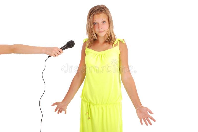 Nastoletniej dziewczyny ` s wywiad obrazy stock