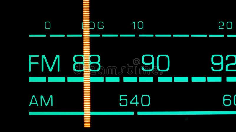 Nastrajać w 88 MHz FM obrazy stock