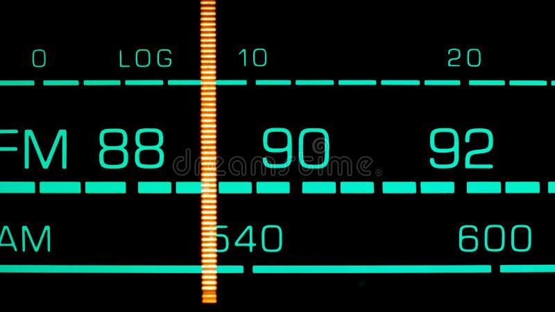 Nastrajać w 89 MHz FM zdjęcie stock