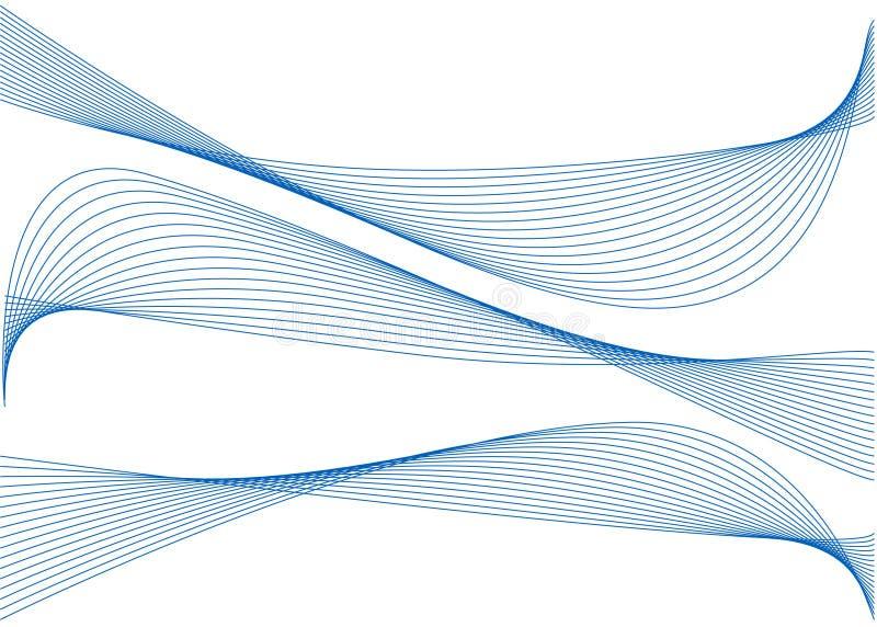 Nastri blu astratti illustrazione di stock