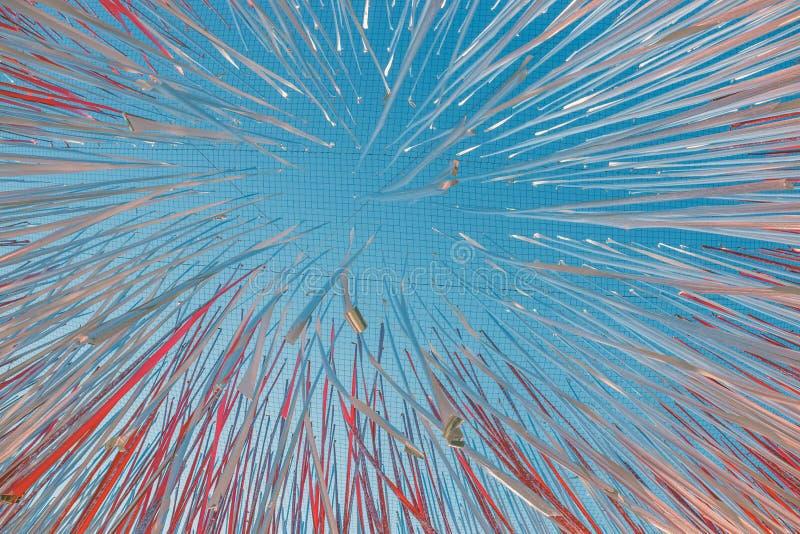 Nastri brillanti che fluttuano nel vento fotografie stock libere da diritti