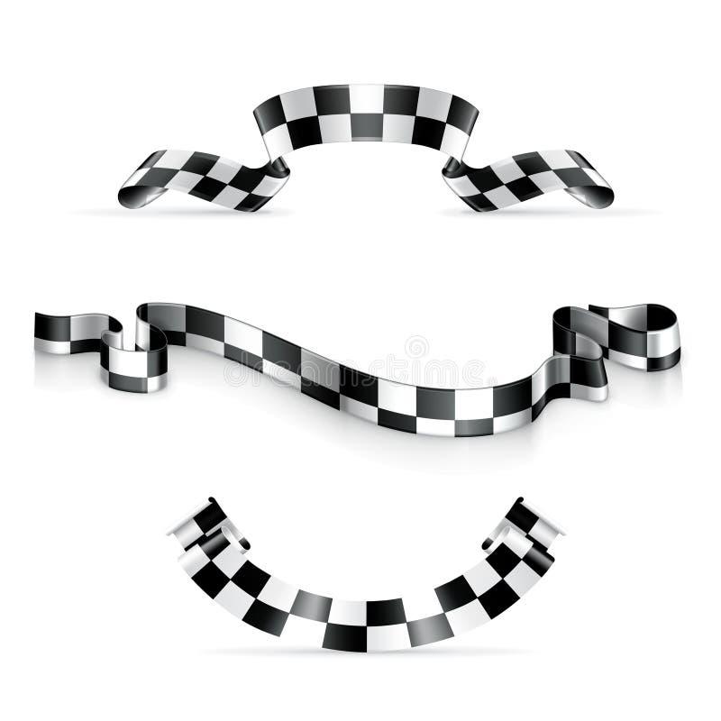 Nastri Checkered illustrazione vettoriale
