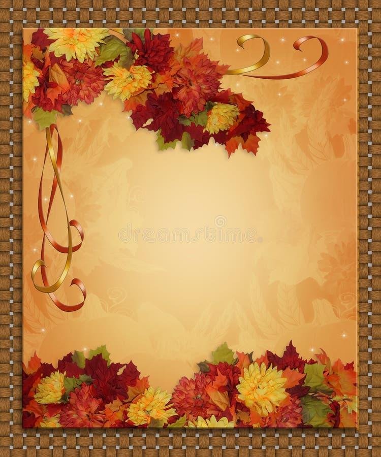 Nastri del bordo di caduta di autunno di ringraziamento royalty illustrazione gratis