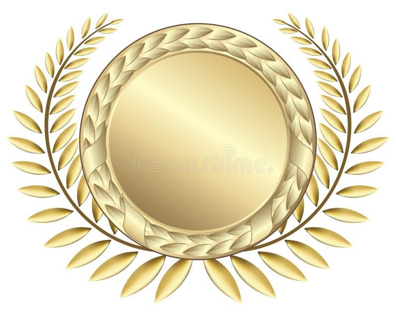 Nastri del premio dell'oro illustrazione di stock