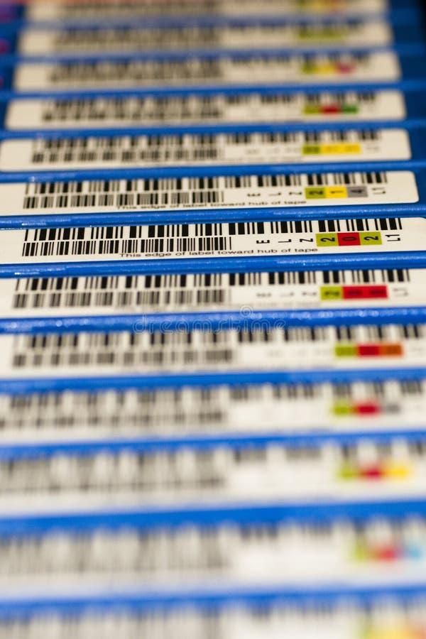 Nastri di backup e cartucce di LTO fotografia stock libera da diritti