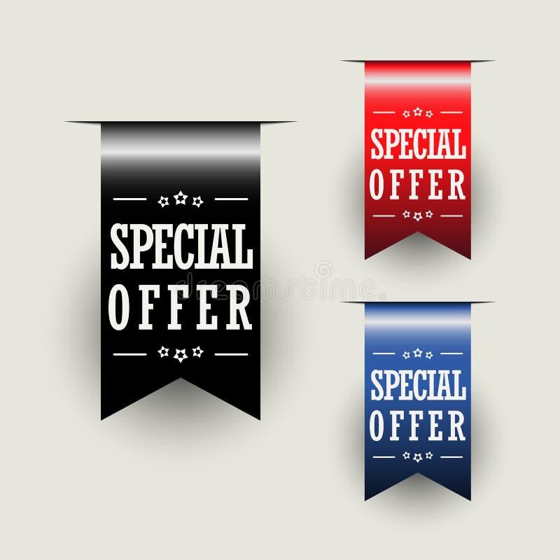 Nastri di offerta speciale royalty illustrazione gratis