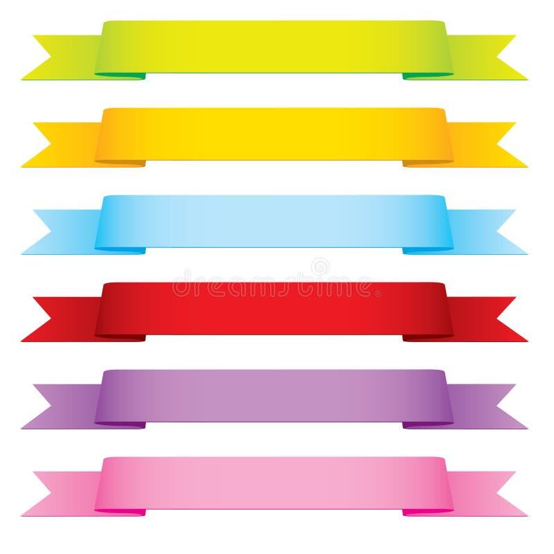 Nastri di vettore in 6 colori illustrazione vettoriale