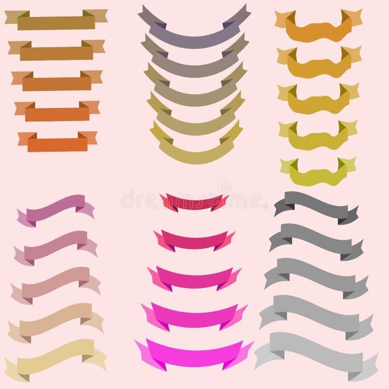 Nastri per progettazione, colori iridescenti illustrazione vettoriale