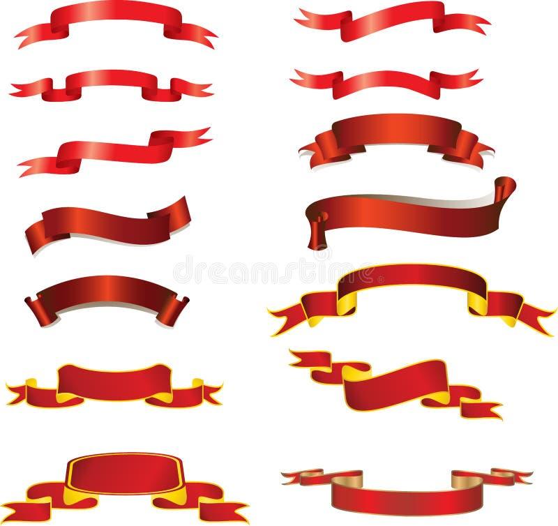 Nastri rossi illustrazione di stock