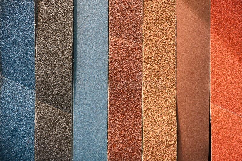 Nastro abrasivo multicolore fotografia stock libera da diritti