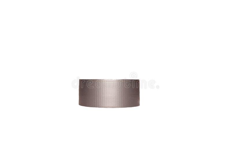 Nastro adesivo d'argento isolato su fondo bianco immagine stock libera da diritti