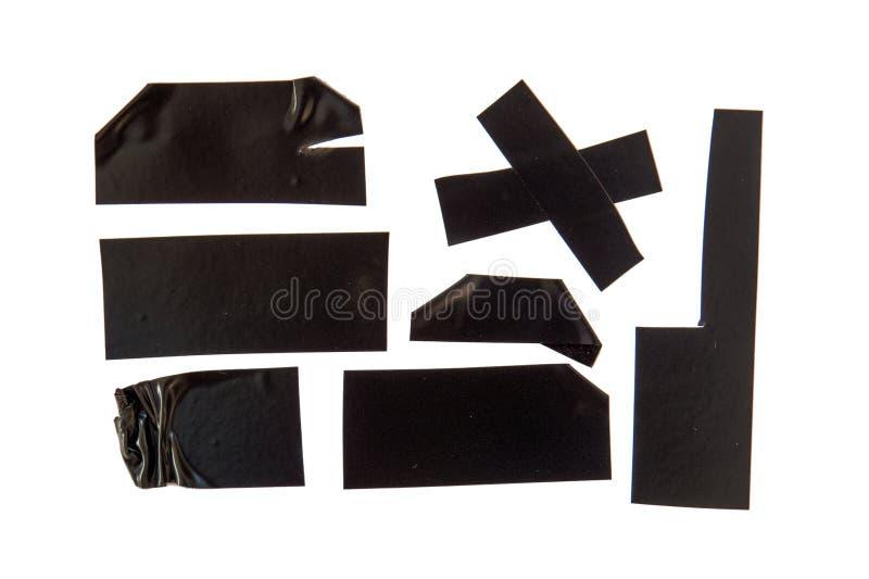 Nastro adesivo nero fotografia stock