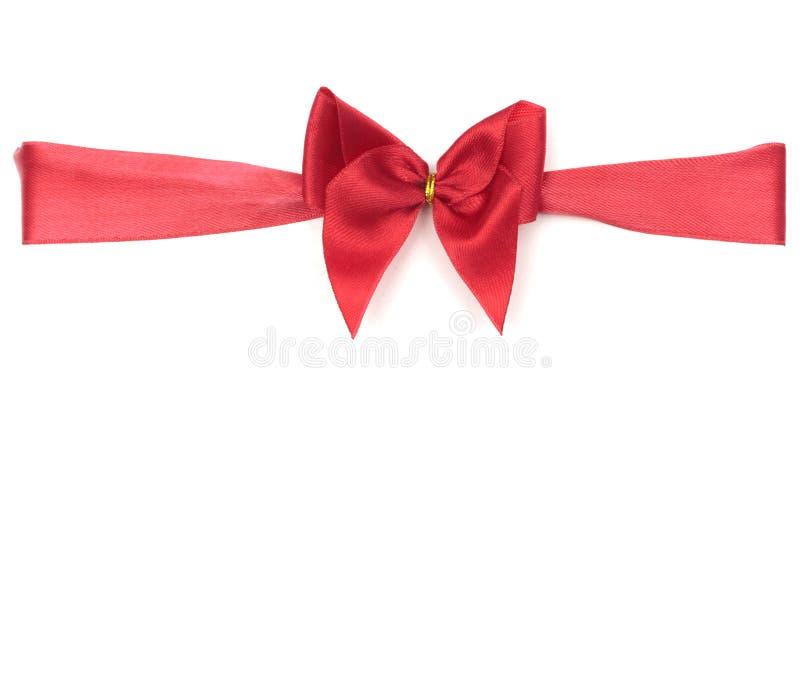Nastro & arco rossi del regalo fotografia stock libera da diritti
