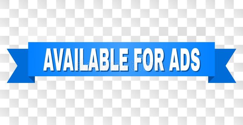 Nastro blu con DISPONIBILE PER il testo di ADS illustrazione di stock
