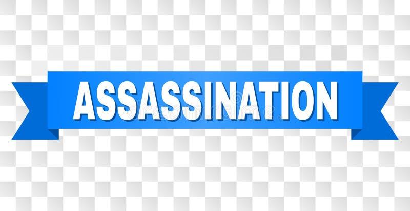 Nastro blu con il titolo di ASSASSINIO royalty illustrazione gratis