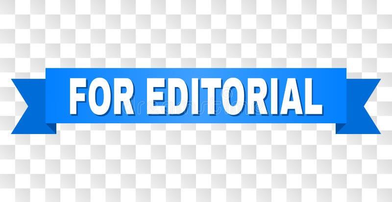 Nastro blu con PER il titolo EDITORIALE illustrazione vettoriale