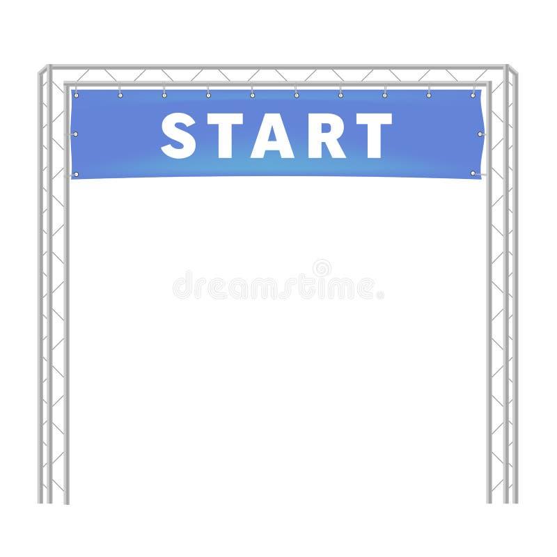 Nastro blu nel funzionamento di vettore del traguardo royalty illustrazione gratis