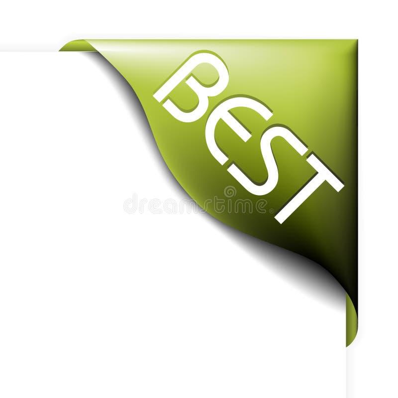Nastro d'angolo verde per il bestseller illustrazione vettoriale