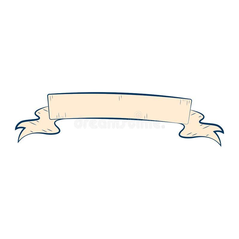 Nastro d'annata vuoto isolato illustrazione di stock