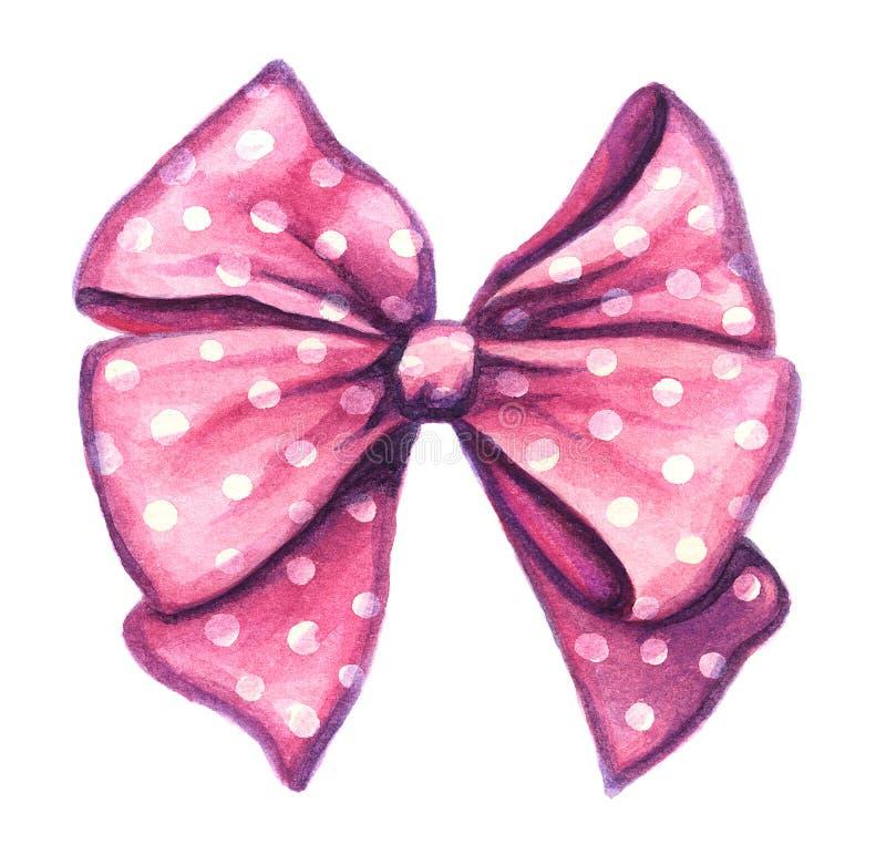 Nastro decorativo rosa del regalo fotografie stock libere da diritti