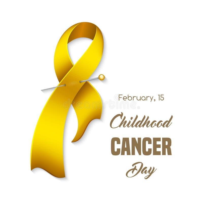 Nastro del cancro di infanzia illustrazione vettoriale