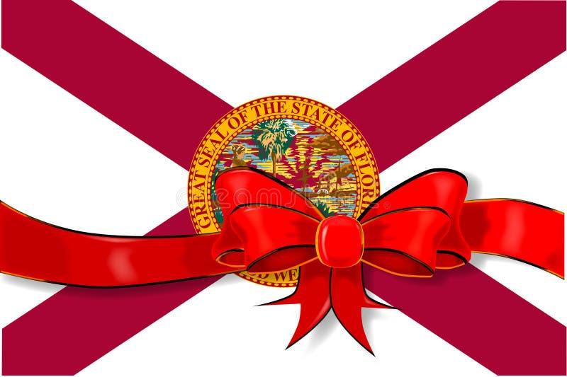 Nastro della bandiera dello stato di Florida illustrazione vettoriale