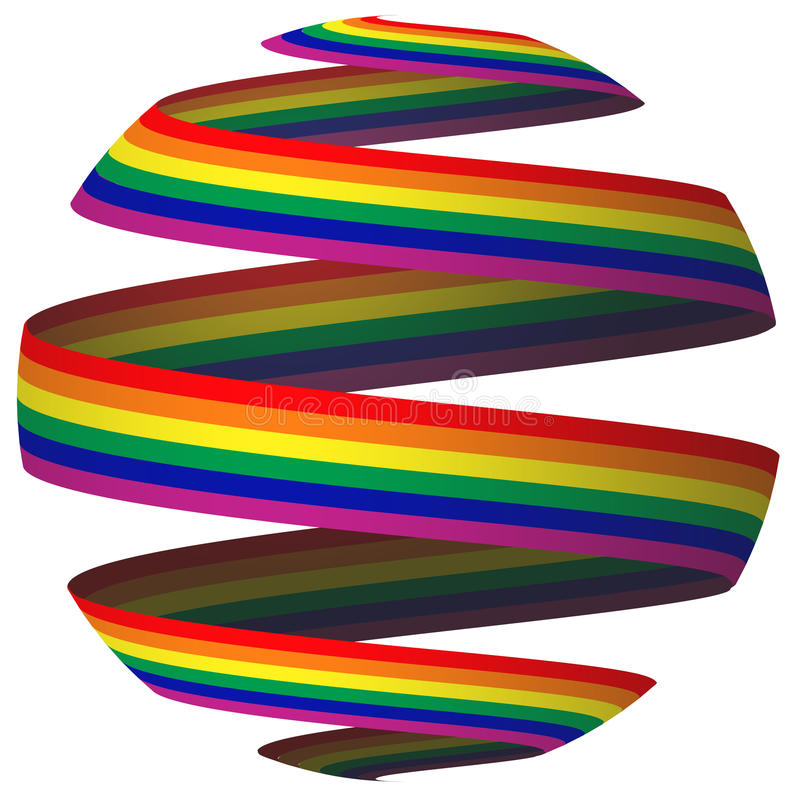 Nastro della bandierina del Rainbow illustrazione vettoriale