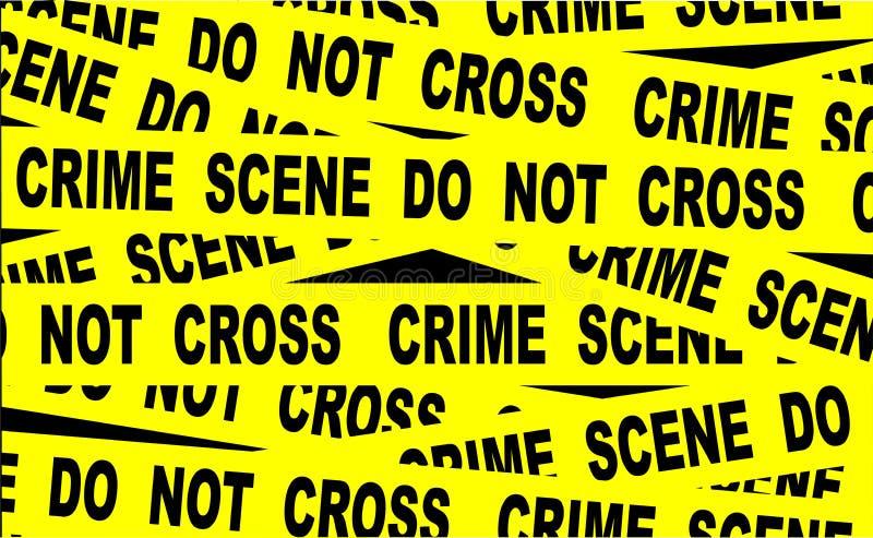 Nastro della scena del crimine illustrazione di stock