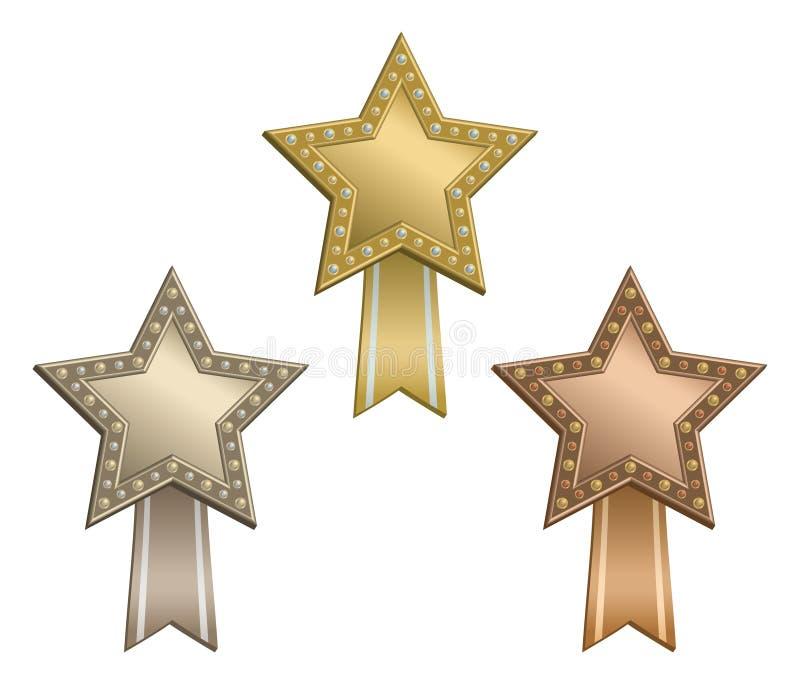 Nastro della stella del premio illustrazione di stock