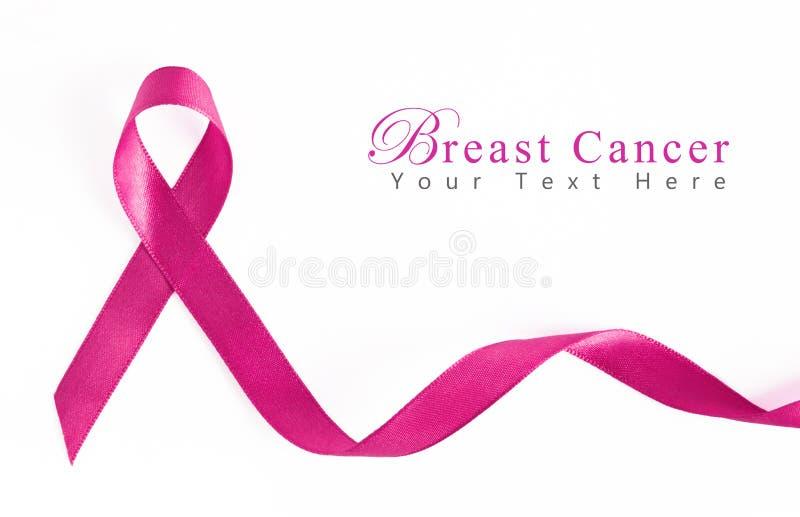 Nastro dentellare del cancro della mammella fotografia stock