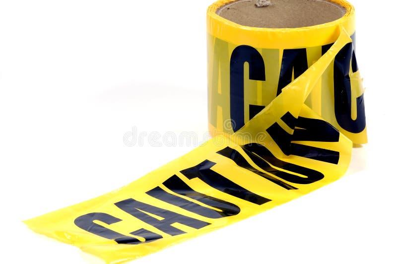 Nastro di avvertenza fotografia stock