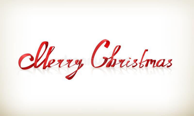 Nastro di Buon Natale illustrazione di stock