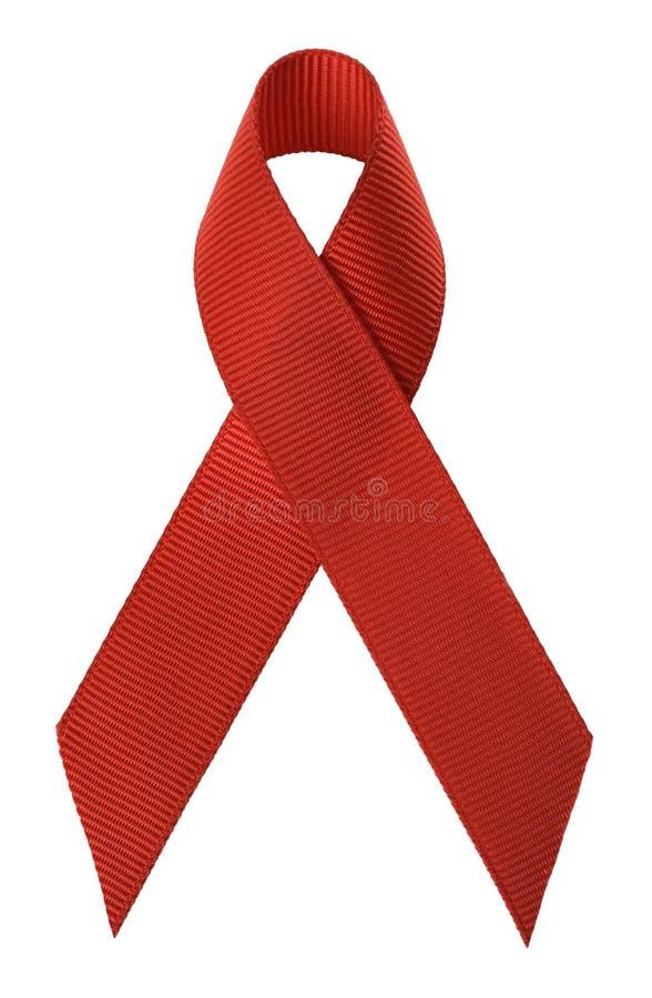 Nastro di consapevolezza del AIDS. immagini stock