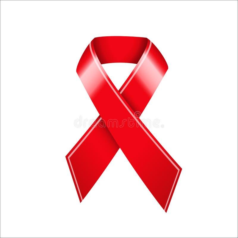 Nastro di consapevolezza del AIDS illustrazione di stock