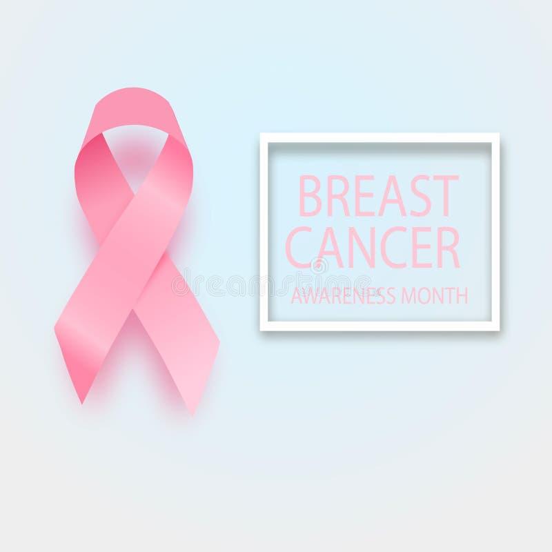 Nastro di consapevolezza del cancro al seno Progettazione di vettore e royalty illustrazione gratis