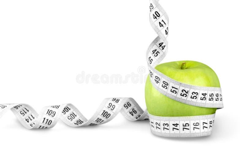 Download Nastro Di Misurazione Del Corpo Intorno Ad Apple Verde Immagine Stock - Immagine di calorie, sano: 117975975