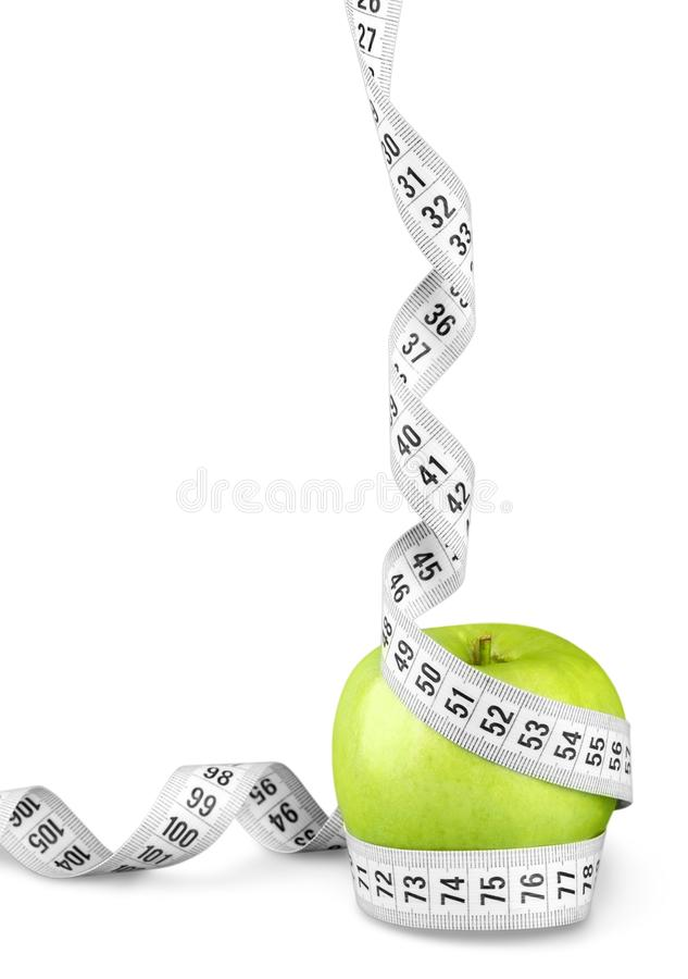 Download Nastro Di Misurazione Del Corpo Intorno Ad Apple Verde Immagine Stock - Immagine di pollice, overweight: 117976049