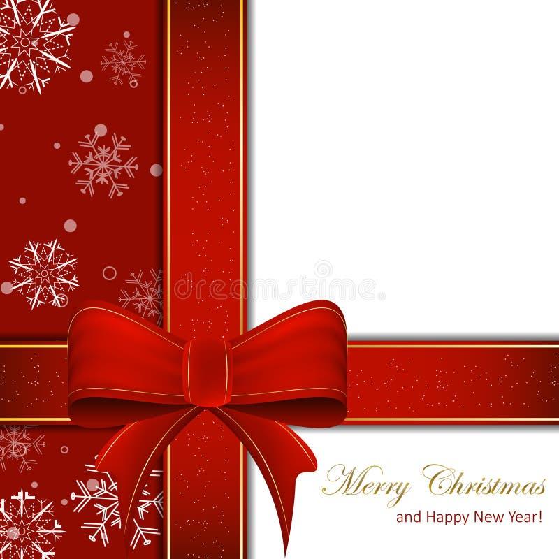 Nastro di Natale su un fondo pulito illustrazione vettoriale