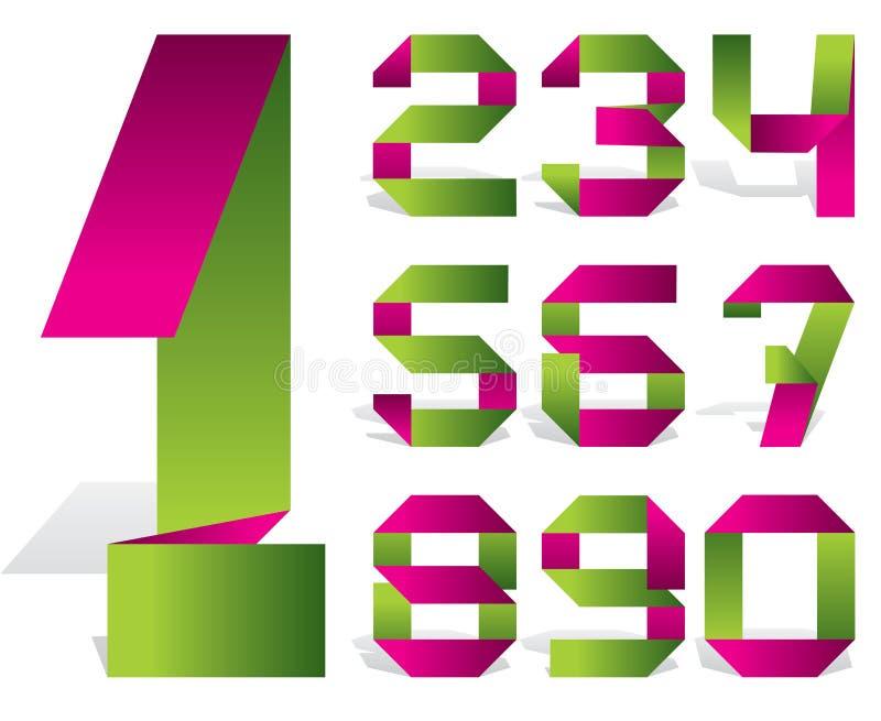 Nastro di numero illustrazione vettoriale